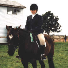 Callan Van Zant with her pony Leia